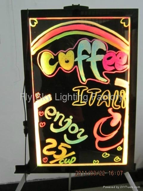 Flashing LED Writing board; LED Advertising Board(30*40cm) for sales promotion 4