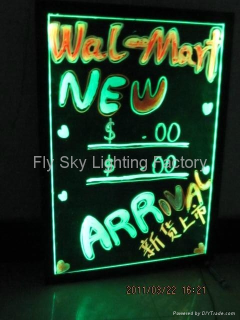 Flashing LED Writing board; LED Advertising Board(40*60cm) for sales promotion 1