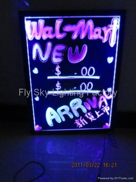 Flashing LED Writing board; LED Advertising Board(40*60cm) for sales promotion 3