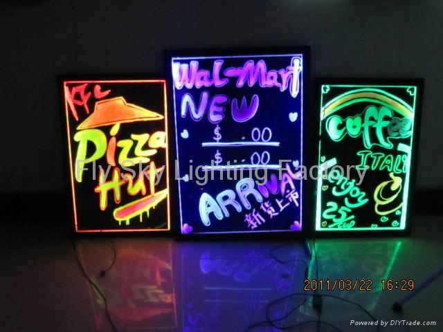 Flashing LED Writing board; LED Advertising Board(60*80cm) for sales promotion 1