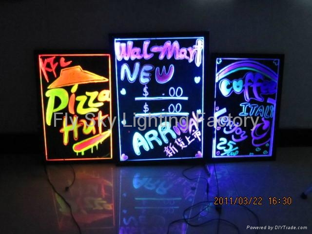 Flashing LED Writing board; LED Advertising Board(60*80cm) for sales promotion 2