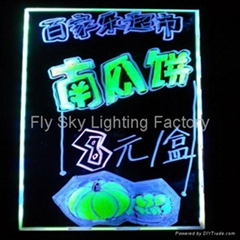 Flashing LED Writing board; LED Advertising Board(50*70cm) for sales promotion