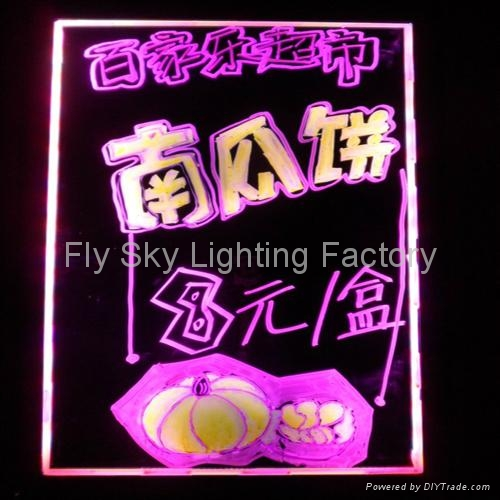 Flashing LED Writing board; LED Advertising Board(50*70cm) for sales promotion 2