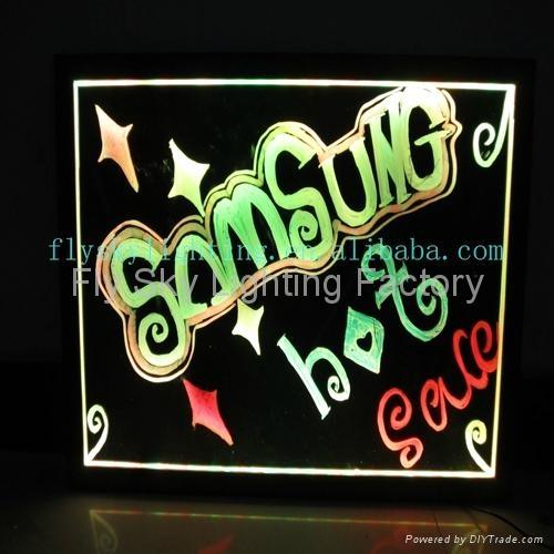 Flashing LED Advertising Board(40*60cm) Aluminum alloy frame for sales promotion 3