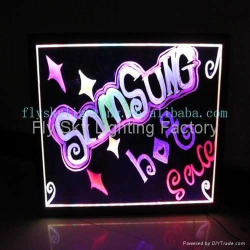 Flashing LED Advertising Board(40*60cm) Aluminum alloy frame for sales promotion 4