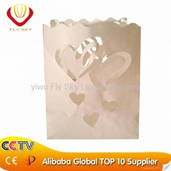 luminaria lighting candle paper bag for gift