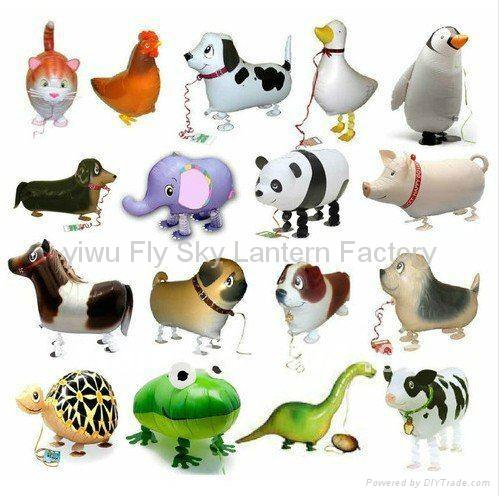 2014 new arrive walking animal shaped helium mylar balloons wb 001 flysky china