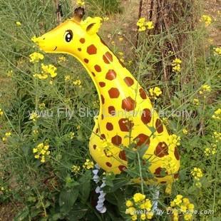 Walking pet foil balloon animal shape mylar helium balloons for Children 3