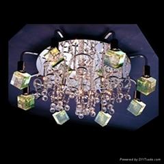 水晶氣泡柱燈