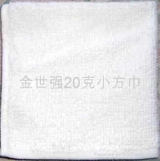 20克漂白涤棉小方巾 1
