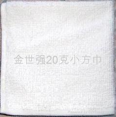 20克漂白涤棉小方巾
