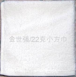 22克涤棉漂白小方巾 1