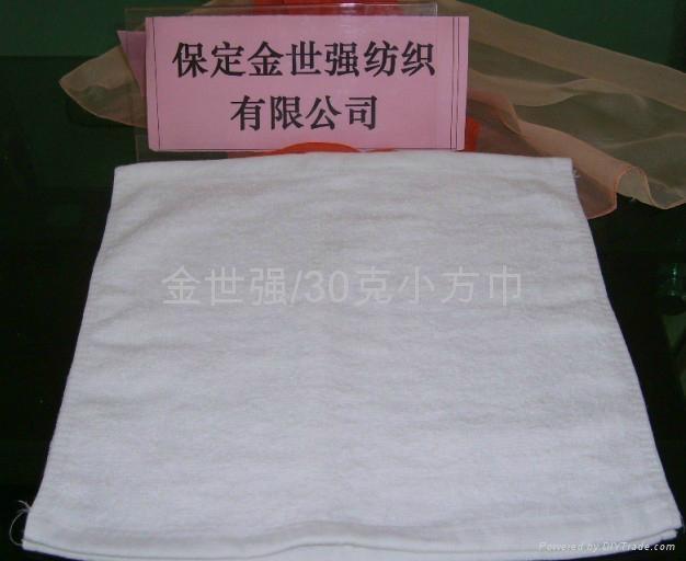 25克漂白小方巾 4