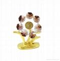水晶葵花金屬工藝禮品