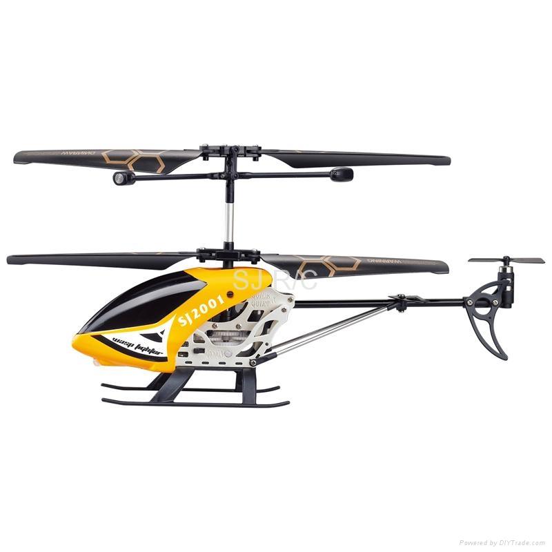 玩具直升机_3通道红外线陀螺仪合金遥控直升机-SJ2001-3-SJR/C(中国广东省
