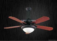52'' ceiling fan with LED light and remote control