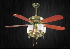 52'' Ceiling fan with light 5 blades