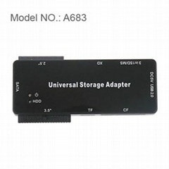 IDE SATA TO USB cable adpter W/66-in-1 Card Reader