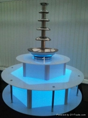 Commercial Chocolate Fountain Base Surround with Remote Control LED Lighting