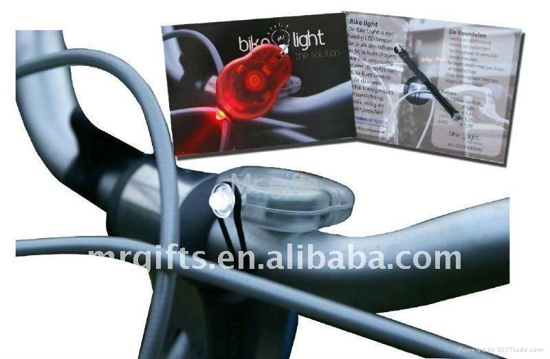 迷你硅胶自行车灯 2