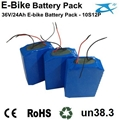 36V 12Ah LiFePO4/Lithium Iron Phosphate Battery Pack