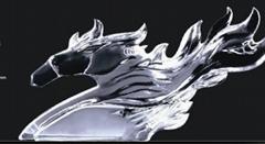 水晶战马摆饰