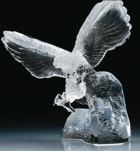 水晶鷹擺飾 1
