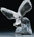 水晶鷹擺飾