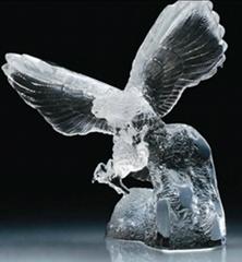 crystal eagle figure