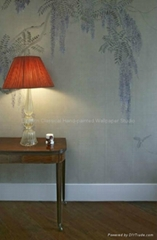 hand painted Chinese art paper wallpaper silk wall covering