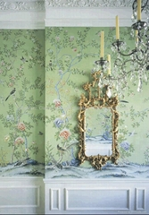 hand-painted plum blossom wallpaper Chinese art paper wall coverings