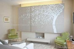hand painted silk wallpapers wall coverings mural paintings