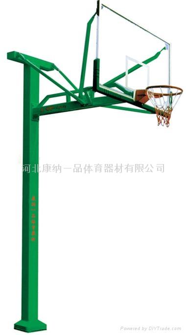 D型固定獨臂籃球架 1