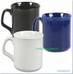 white porcelain mug and cups