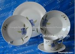 white porcelain 18 pieces round dinnerware