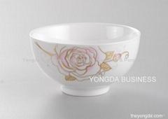 white porcelain bowls (5'--9')