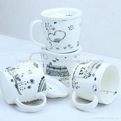 porcelain gift cover mugs