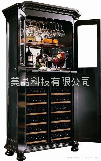 美晶豪华实木双开门恒温恒湿酒柜系列SD800 1