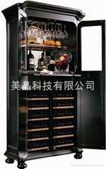美晶豪華實木雙開門恆溫恆濕酒櫃系列SD800