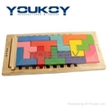 Tetris wooden puzzle block