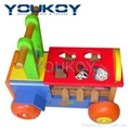educational wooden toys car sorting box