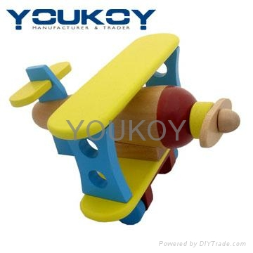 vehicle toy airplane set wooden toy 1