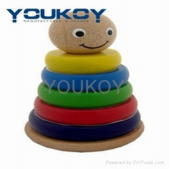 wooden educational stacking toys for kids