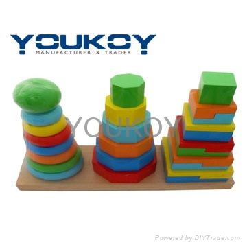 wooden educational stacking toys 1