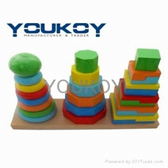 wooden educational stacking toys