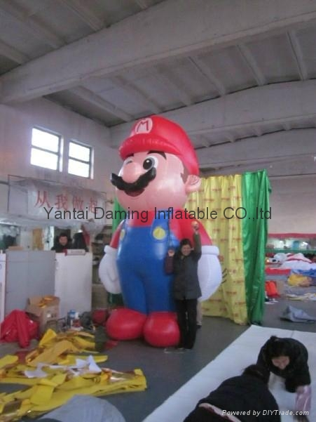2012 promotional mascot inflatable Mario 3