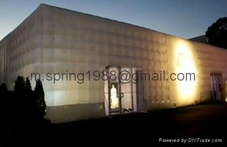 2012 LED decoration inflatable big cube tent  1