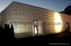 2012 LED decoration inflatable big cube tent