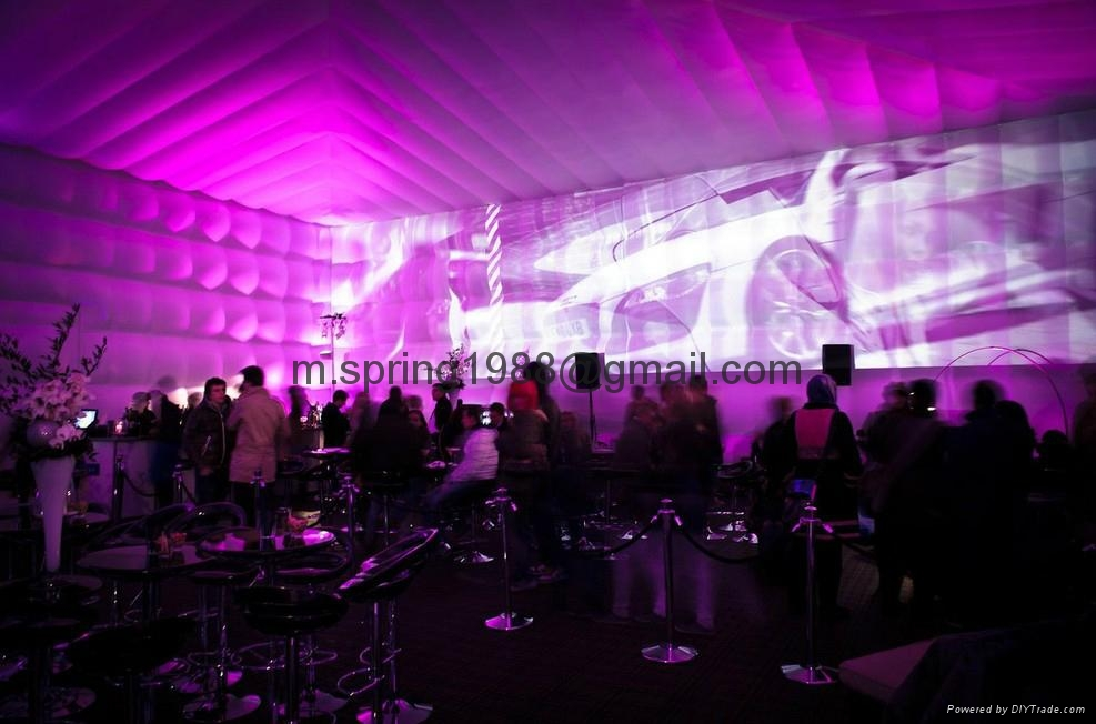 2012 LED decoration inflatable big cube tent  5