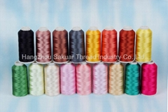 100% polyester Embroidery Thread 120D/2